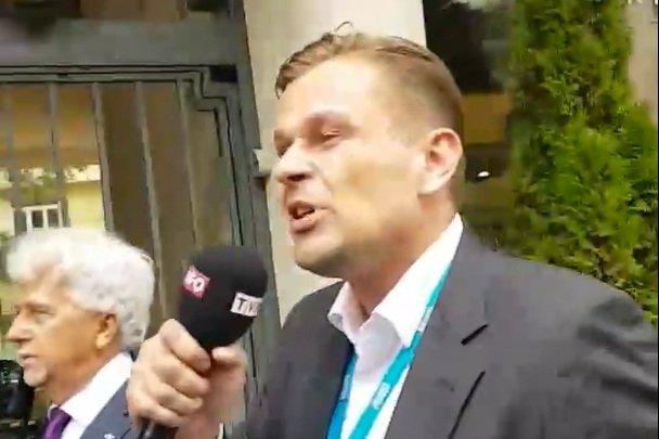Dziennikarz TVP gonił prezydenta Gdańska kilkaset metrów.