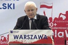 """Jarosław Kaczyński na konwencji PiS w Warszawie: """"prawdziwy sztandar Solidarności mamy my!""""."""