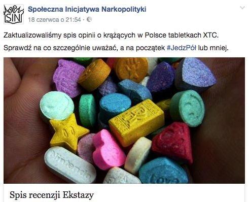 W działalności SIN pomagają również same osoby, które zażywają narkotyki. Robią recenzje substancji.