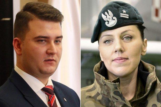 """""""Nowy Misiewicz"""" jest kobietą. Pani major, która zastąpi pana Bartłomieja, bije go na głowę pod każdym względem"""