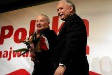 Prof. Jadwiga Staniszkis i prezes PiS Jarosław Kaczyński