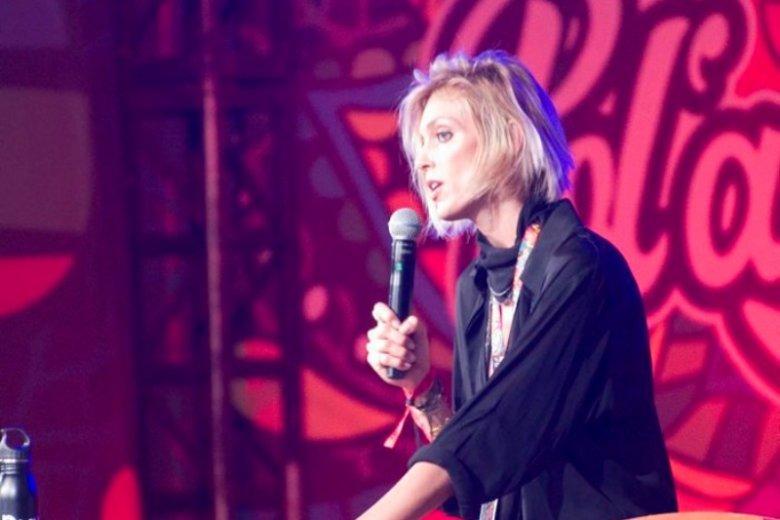 Anja Rubik na PolAndRock 2018 podczas spotkania z publicznością