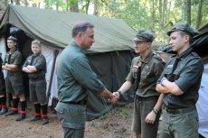 Prezydent Duda odwiedził harcerzy z łódzkiego ZHR.