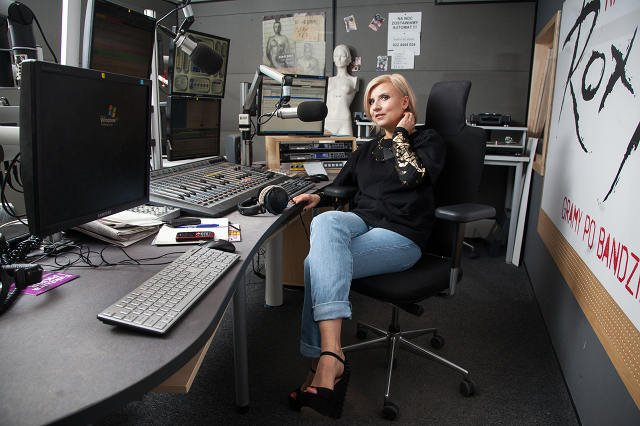 Novika w studiu Radia Roxy
