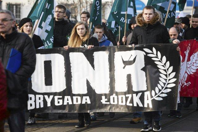 Marsze łódzkiej ONR.