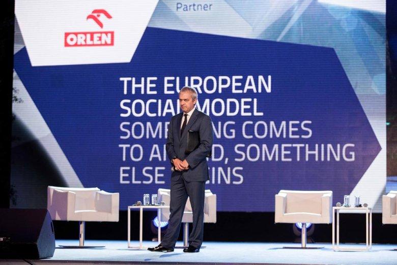 Prezes PKN Orlen Jacek Krawiec podczas EFNI w Sopocie