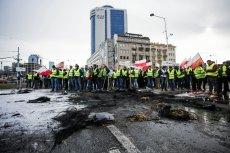 Protest rolników w Warszawie. Są pierwsi zatrzymani przez policję.