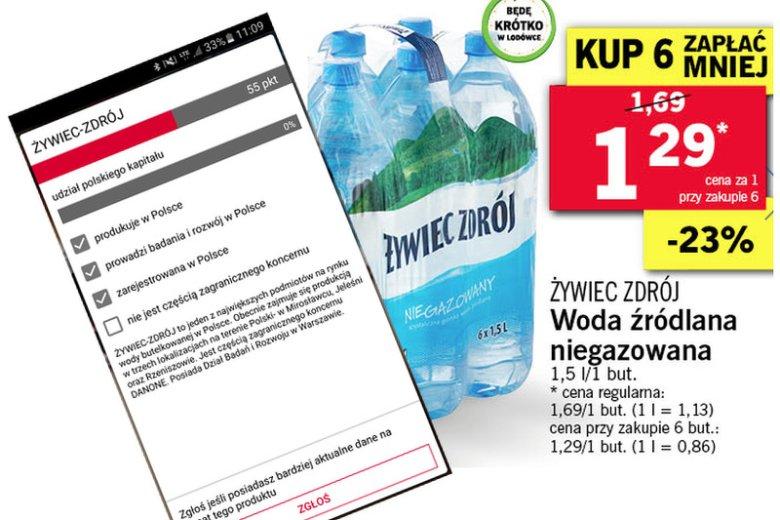Myślisz, że Żywiec Zdrój to stuprocentowo polski produkt, a oni wyliczają to dokładnie. Tak działa aplikacja Pola.