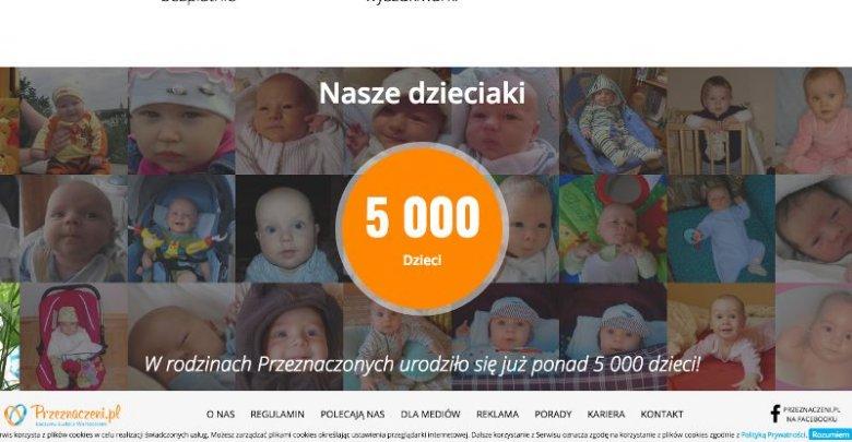 """""""W rodzinach Przeznaczonych urodziło się już ponad 5 tys. dzieci"""" - reklamuje się serwis Przeznaczeni.pl"""