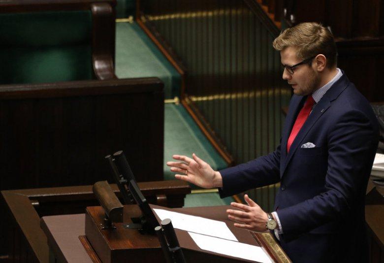 Na zdjęciu 27-letni Michał Woś, prawnik z Raciborza, od roku zastępca Zbigniewa Ziobry w resorcie sprawiedliwości.