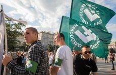 ONR protestują w Krakowie