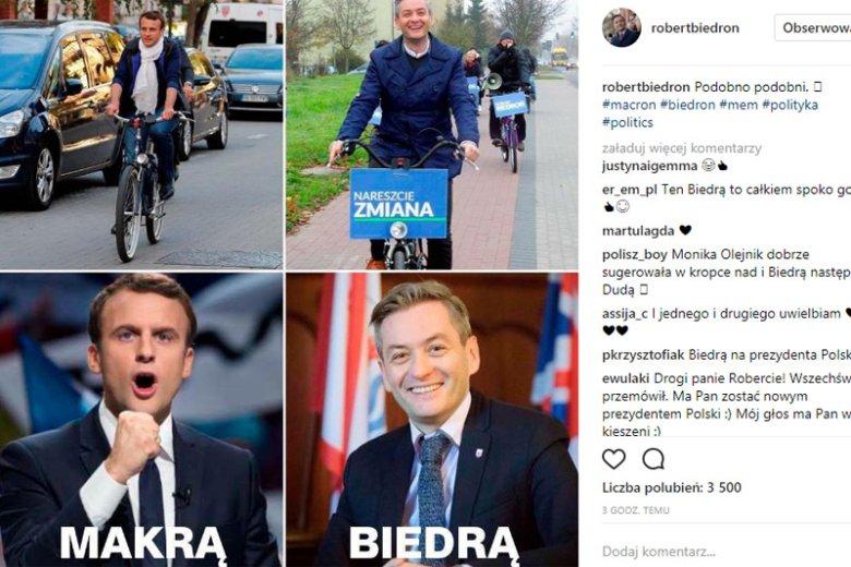 """Wymowny post Roberta Biedronia. Prezydent Słupska zrozumiał, że """"musi"""" i planuje walkę o władzę jak Emmanuel Macron?"""