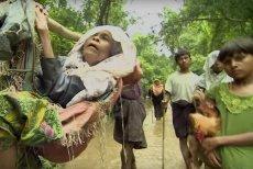 Prześladowani masowo uciekająz Birmy do Bangladeszu.