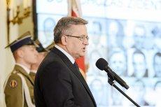 """Prezydent Bronisław Komorowski postanowił w niedzielę uczcić pamięć """"ofiar Żołnierzy Wyklętych""""."""