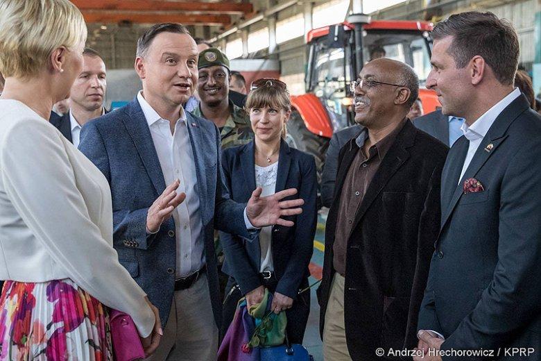 Prezydenta Andrzej Duda i pierwsza dama Agata Kornhauser-Duda bawią z wizytą w Etiopii.