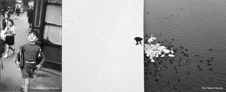 po lewej Henri Cartier-Bresson, po prawej Marcin Ryczek
