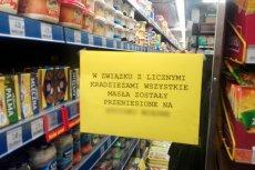 Personel sklepu jak może broni się przed kradzieżami drożejącego masła.
