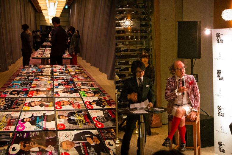 po prawej; Masafumi Suzuki. red.nacz GQ Japan
