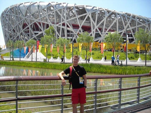 Przed główną areną olimpijskich zmagań w Pekinie