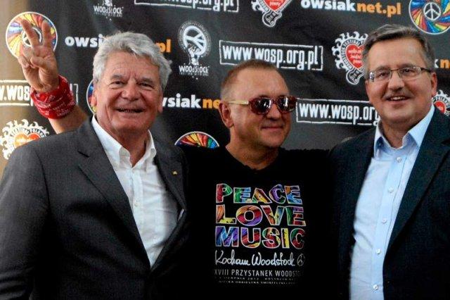 Jurek Owsiak oraz Prezydenci Niemiec i Polski na Festiwalu Woodstock