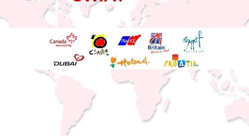 Loga m.in. Hiszpanii, Francji, Wielkiej Brytanii, Chorwacji