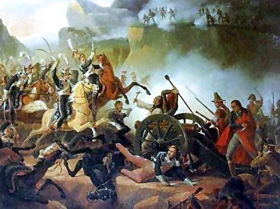 Polscy szwoleżerowie podczas bitwy pod Somosierrą.
