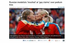 Pocałunek rosyjskich lekkoatletek nie był protestem przeciwko antygejowskiemu prawu