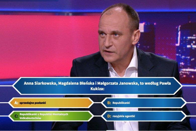 """W internecie krąży prześmiewcza gra """"Milionerzy z Kukizem""""."""