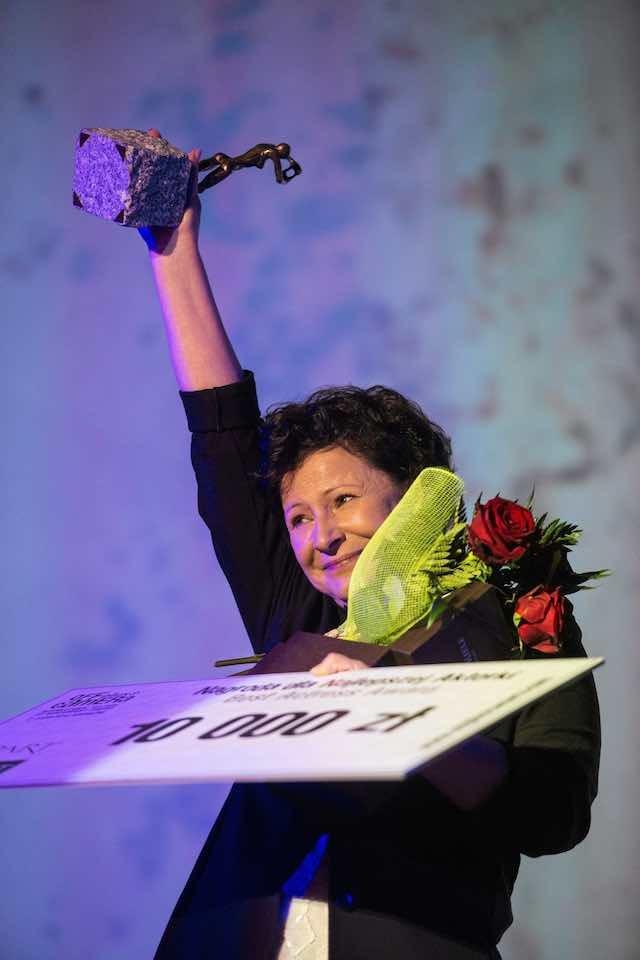 Dorota Kolak w Krakowie. Nagroda dla najlepszej aktorki podczas OFF Plus Camera, 2014 rok