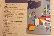 Mapa UE w podręczniku do języka niemieckiego dla trzeciej klasy gimnazjum