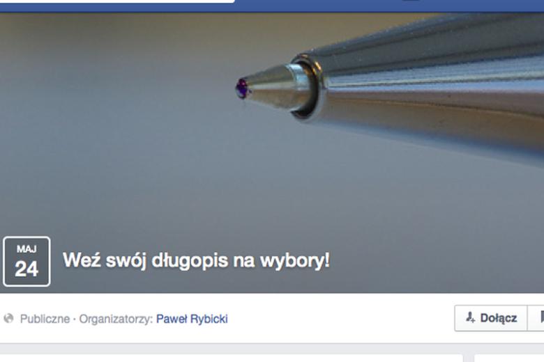 Facebookowa akcja zachęca, by wziąć na wybory własny długopis. Wszystko po to, by zapobiec fałszerstwom.