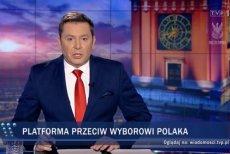 """1 marca w """"Wiadomościach"""" wybór Zdzisława Krasnodębskiego na stanowisko wiceszefa PE przedstawiono jako sukces PiS i Polski oraz jako porażkę PO."""