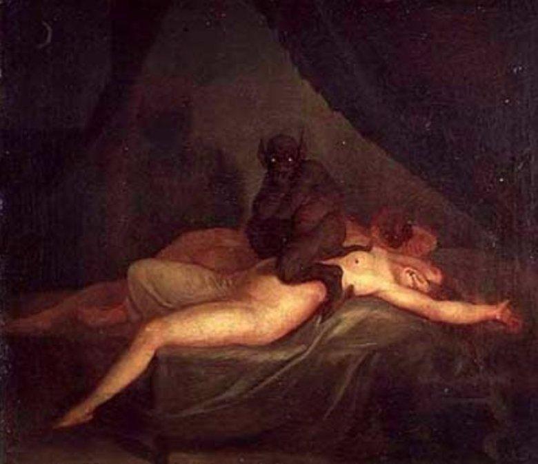 Tak malarze wyobrażali sobie inkuba.