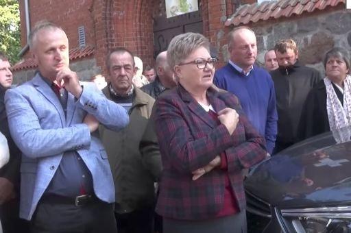Protest w parafii w Dziewierzewie