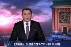 """W """"Wiadomościach"""" podano informację o ujawnieniu zarobków w NBP, ale tak, żeby nie kłuć w oczy wysokością pensji Wojciechowskiej i Sukiennik."""