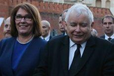 Beata Mazurek i Jarosław Kaczyński. Dla rzeczniczki PiS prezes jest najważniejszy.