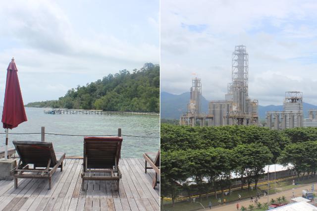 Dwie twarze Indonezji: turystyczna i przemysłowa.