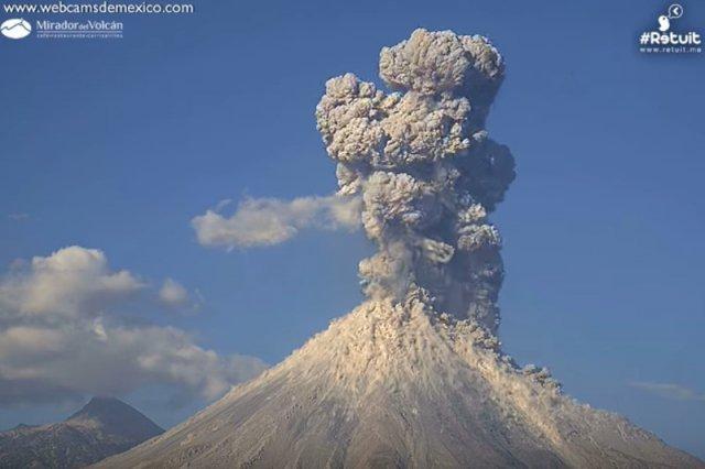 Ależ moc! Film z wybuchu wulkanu w Meksyku aż zapiera dech w piersiach