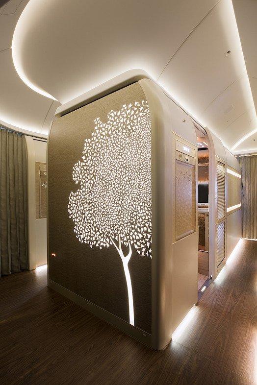 Wzór przedstawiający drzewo Ghat, jeden z symboli narodowych Zjednoczonych Emiratów Arabskich.