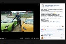 Kuba Wojewódzki odda za darmo swoje Lamborghini?