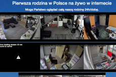 Rodzina Dzikowskich uznała, że całodobowa transmisja z ich życia pozwoli im uczciwie zarobić pieniądze na nowe mieszkanie.