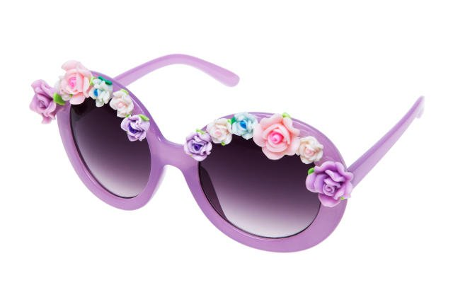 Kwiatowe okulary od Glittera.