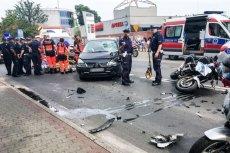 Policjant ranny podczas zabezpieczania dojazdu na Pol'and'Rock w Kostrzynie.