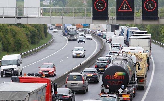 Korek na autostradzie. Godziny szczytu, Luksemburg