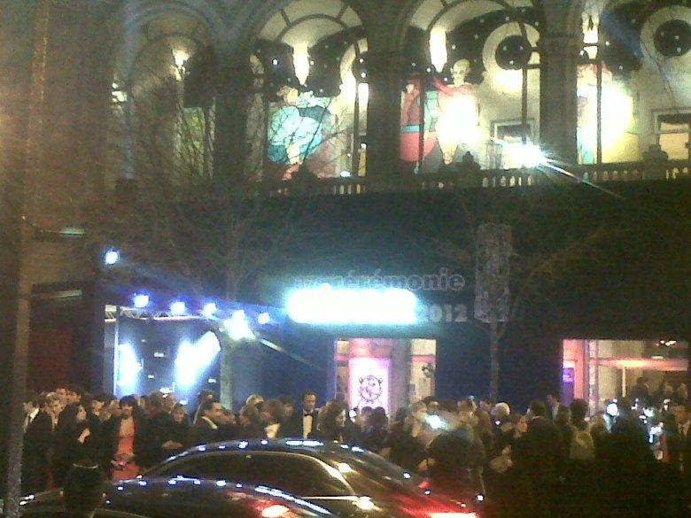 Teatr Châtelet podczas ceremonii rozdania Cezarów. Piątek, 24 lutego 2012 roku. Dziękuję mojemu koledze Maziarowi Razaghi za udostępnienie tego zdjęcia.
