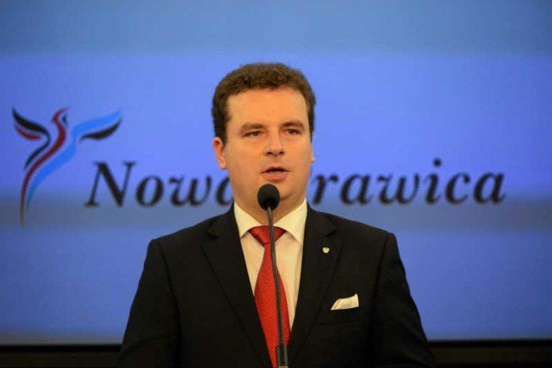 Jacek Wilk z Kongresu Nowej Prawicy.