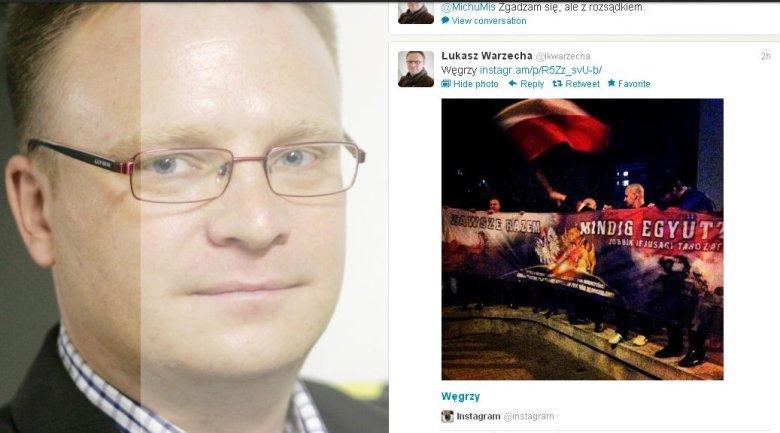 """""""Węgrzy"""" na profilu Łukasza Warzechy"""