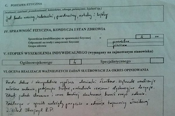 Opinia z 2002 r. o pracy sędziego Lewińskiego jest wzorowa. W 2007 r. sędzia ten stracił immunitet, został zawieszony w czynnościach i pozbawiony połowy wynagrodzenia.