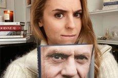 Kasia Tusk chce, żeby tata podpisał jej książkę.