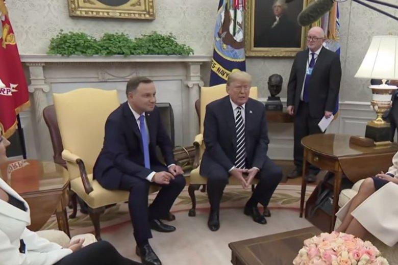 Andrzej Duda po trzech latach prezydentury pojawił się w Białym Domu. Był zestresowany i nad wyraz szczęśliwy.